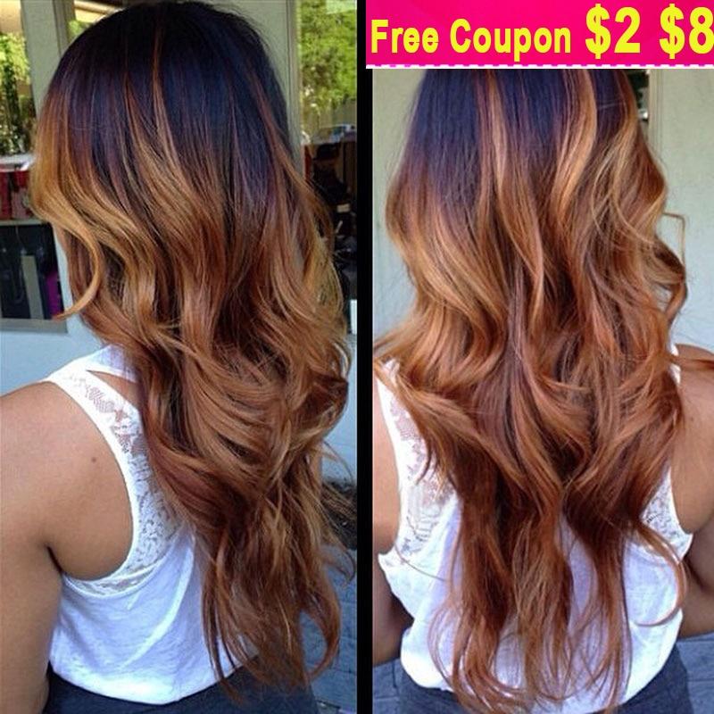 Diamond Virgin Hair Extension Blonde Brazilian Ombre Human Hair