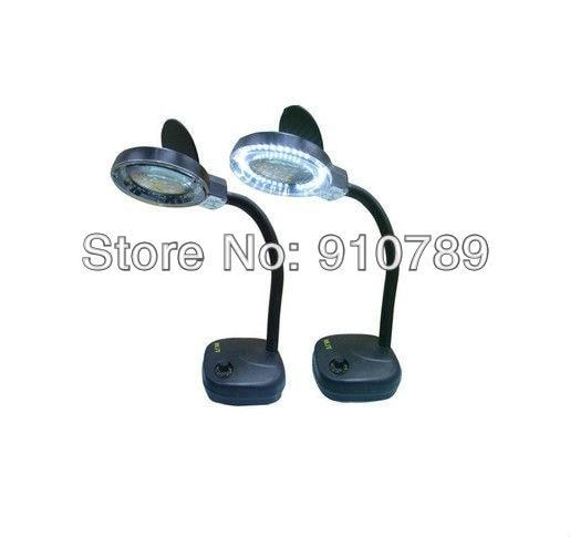 Free shipping led desk lamp magnifier electronic ballast magnifying lamp maintenance adjustable brightness magnifying glass