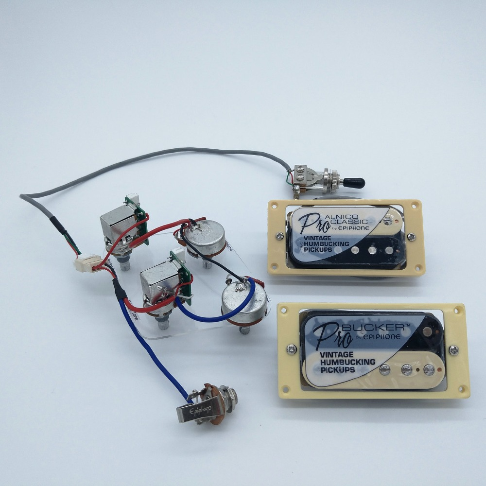 online buy whole guitar wiring harness from guitar 1 set original epi standard pro alnico zebra humbucker pickup push pull switch potentiometers guitar