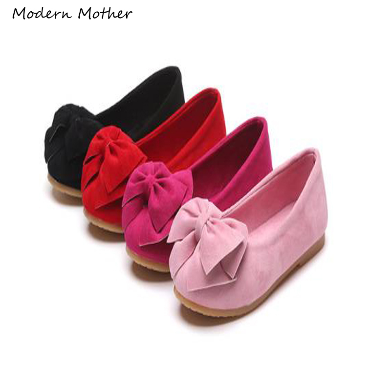 2019 Spring Autumn New Children's Casual Shoes Girls Princess Bow Solid Peas Shoes Safty Quality Non-slip Shoes For Kids