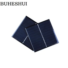 BUHESHUI 5V 0.8W Polycrystalline Solar Cell DIY Solar Panel Battery Charger Education Kits Epoxy 80*80MM 2pcs Free Shipping