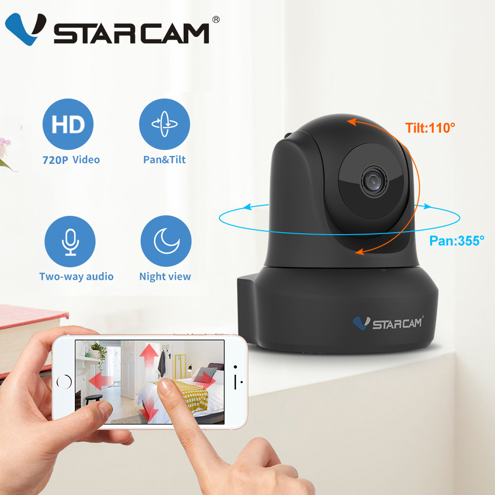 Vstarcam Indoor HD WiFi Video Surveillance Monitoring Security Wireless IP Camera with Two Way Audio IR