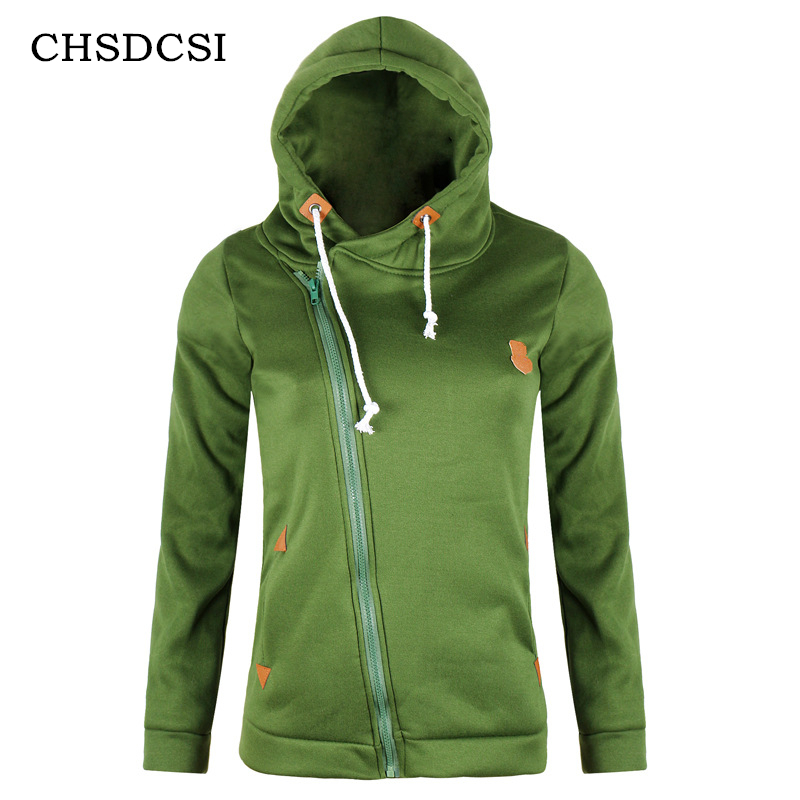 CHSDCS Female Outerwear Coats Casual   Jackets   Autumn Winter Zipper Women   Basic     Jackets   Warm   Jacket   Plus Size Ladies Cardigan