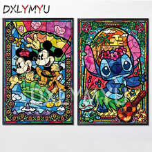 Diy Diamond Paintings Cartoon Mouse Square Drill Rhinestone 3D Cross Stitch Crystal Needlework Full Embroidery Mosaic