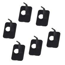 6 pièces chasse tir à larc arc classique avec dos auto adhésif en plastique adhésif flèche reste main droite/main gauche