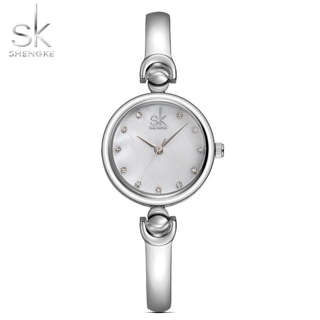 SK Fashion Quartz Watches for Women Stainless Steel Clock Female Women's Bracele