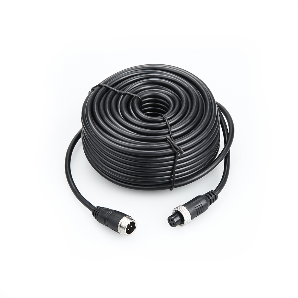 Free Shipping 5M/10M/15M/20M/25M 4 PIN Aviation Connector Cable Video And Audio Cable,Professional Extend Cable For CCTV Mdvr