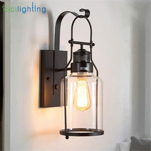 European antique outdoor wall lights balcony aisle staircase led outdoor waterproof wall sconces glass shade decor porch lamp