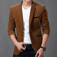 2019 new corduroy suit, Spring and Autumn blazer men, male Slim suit jacket, Long sleeve Single Breasted casual blazer masculino