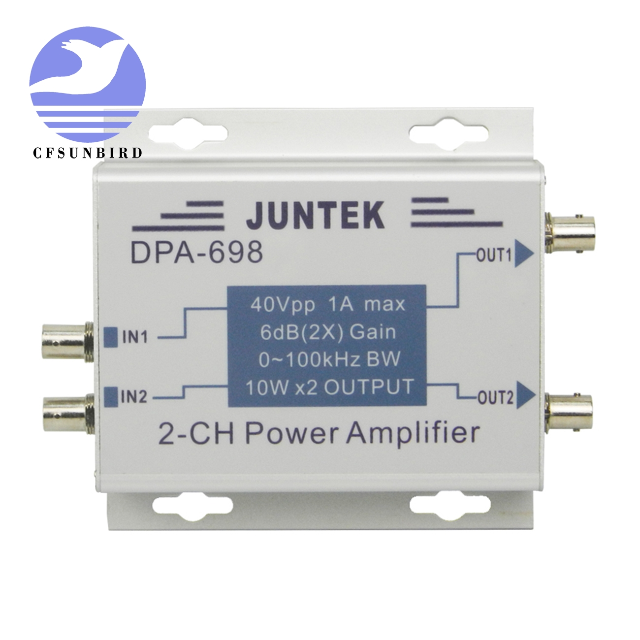 DPA 698 high power dual channel DDS function signal generator power amplifier DC power amplifier 40Vpp