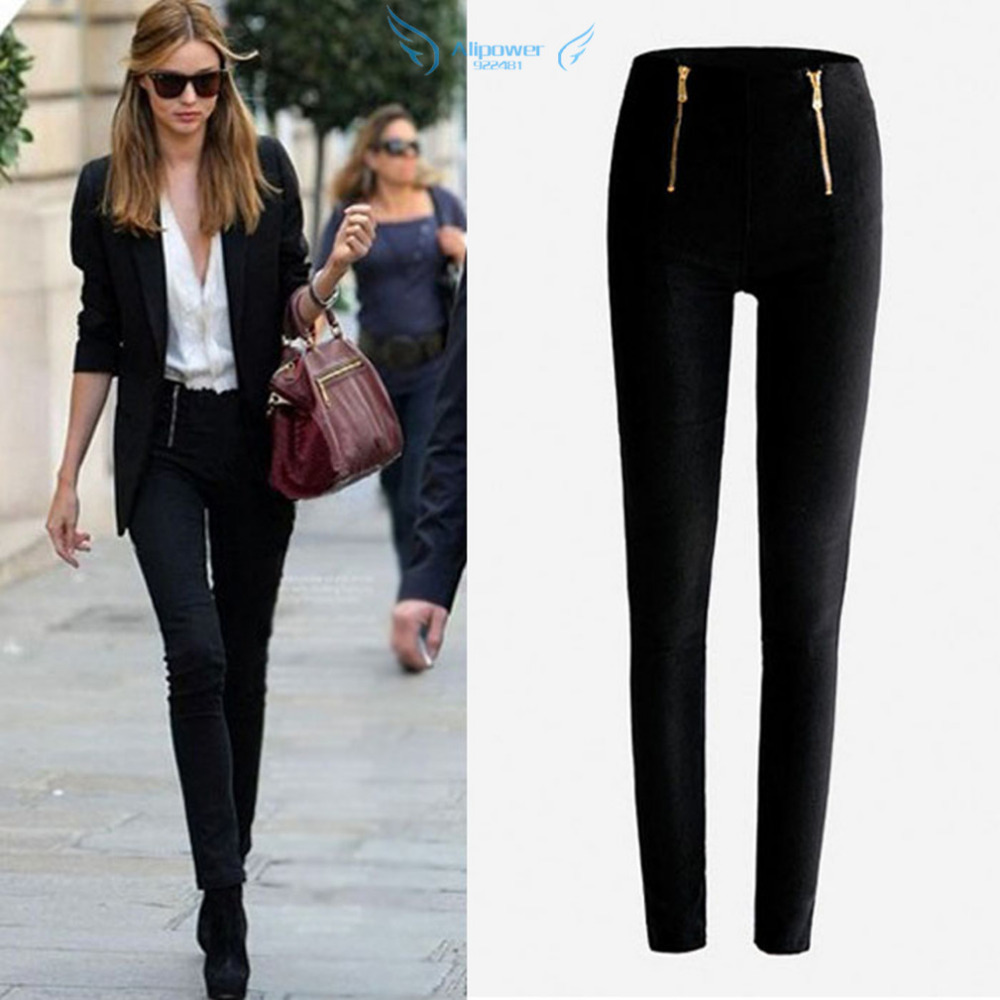 Popular White Skinny Trousers-Buy Cheap White Skinny Trousers lots ...