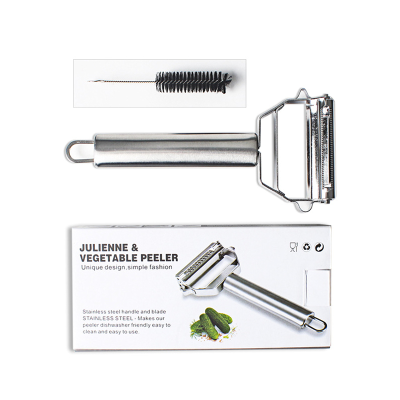 Kitchen tools Color boxed Double head multi function vegetable cutter grater Broken wire and paring knife brush Portable AB391 in Graters from Home Garden
