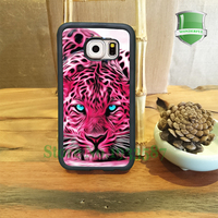 Animal Print Leopard Pink Tiger Art Mobile Phone Cases For Samsung S7 S7 Edge S6 S6