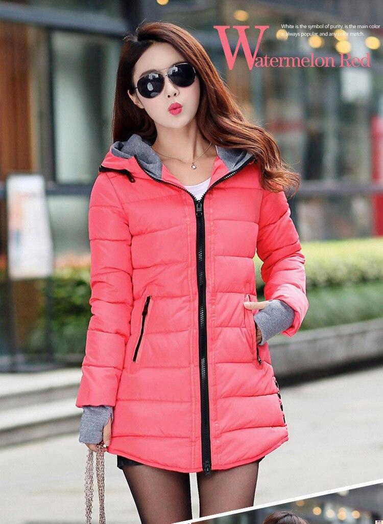 HTB1lce9gDCWBKNjSZFtq6yC3FXa5 2019 women winter hooded warm coat plus size candy color cotton padded jacket female long parka womens wadded jaqueta feminina