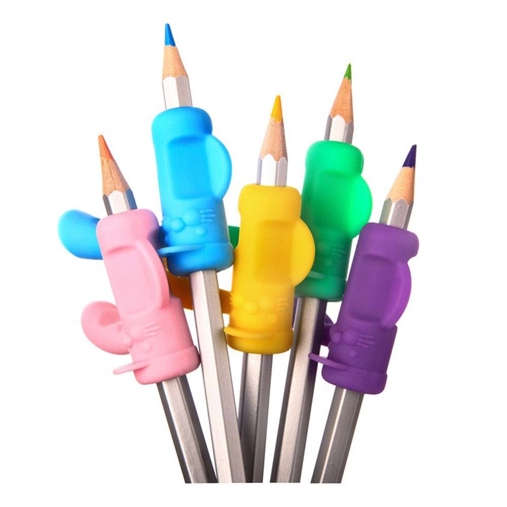 6PCS/Set children writing correction device Pencil Holder Pen Writing Aid Grip Posture Correction Tool u70926