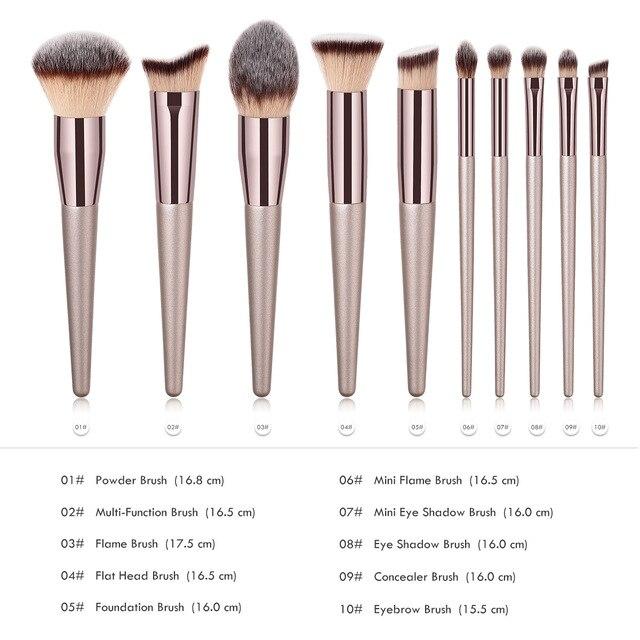 Luxury Champagne Makeup Brushes Set For Foundation Powder Blush Eyeshadow Concealer Make Up Brush Cosmetics Beauty Tools 1