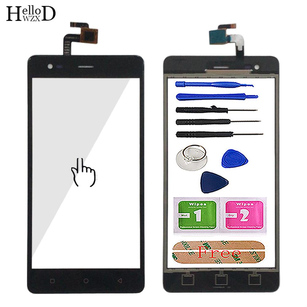 Touch Screen Sensor For Tele 2 Tele2 Maxi Plus Touch Screen Front Glass Lens Digitizer Panel Mobile Phone Tools Adhesive
