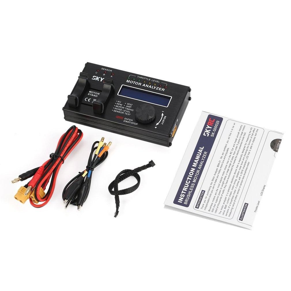 Nouveau SkyRC BMA-01 sans brosse moteur analyseur testeur RPM KV tension synchronisation bruit AMP Hall Checker Motolyzer pour pièce de voiture RC avec LCD
