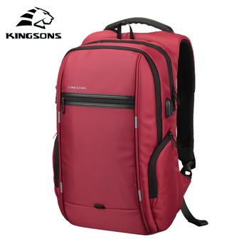 KINGSONS 2019 New Women Fashion Backpack Business Leisure Travel Student Backpack Wear resistant 13 15 Inch Laptop Backpack