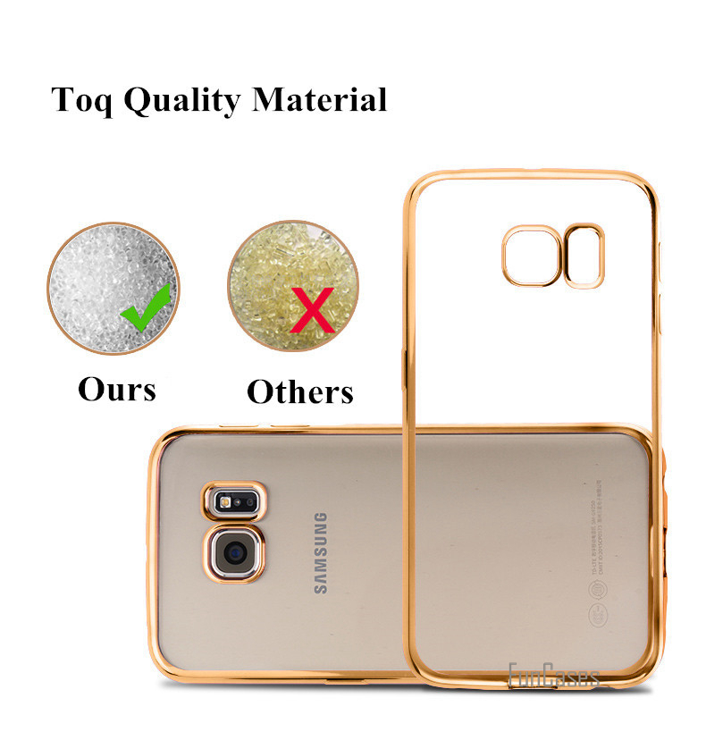 Plating Phone Cases For Samsung Galaxy A3 A5 A7 2016 J1 J5 J7 2015 S3 S4 S5 S6 S7 Edge Plus G530H Cover Soft TPU Protective Case