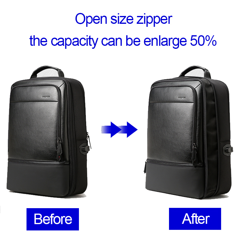 BOPAI Multifunction Laptop Backpack Enlarge USB Charging 15.6inch Backpack Anti theft High Capacity Waterproof Travel Backpack