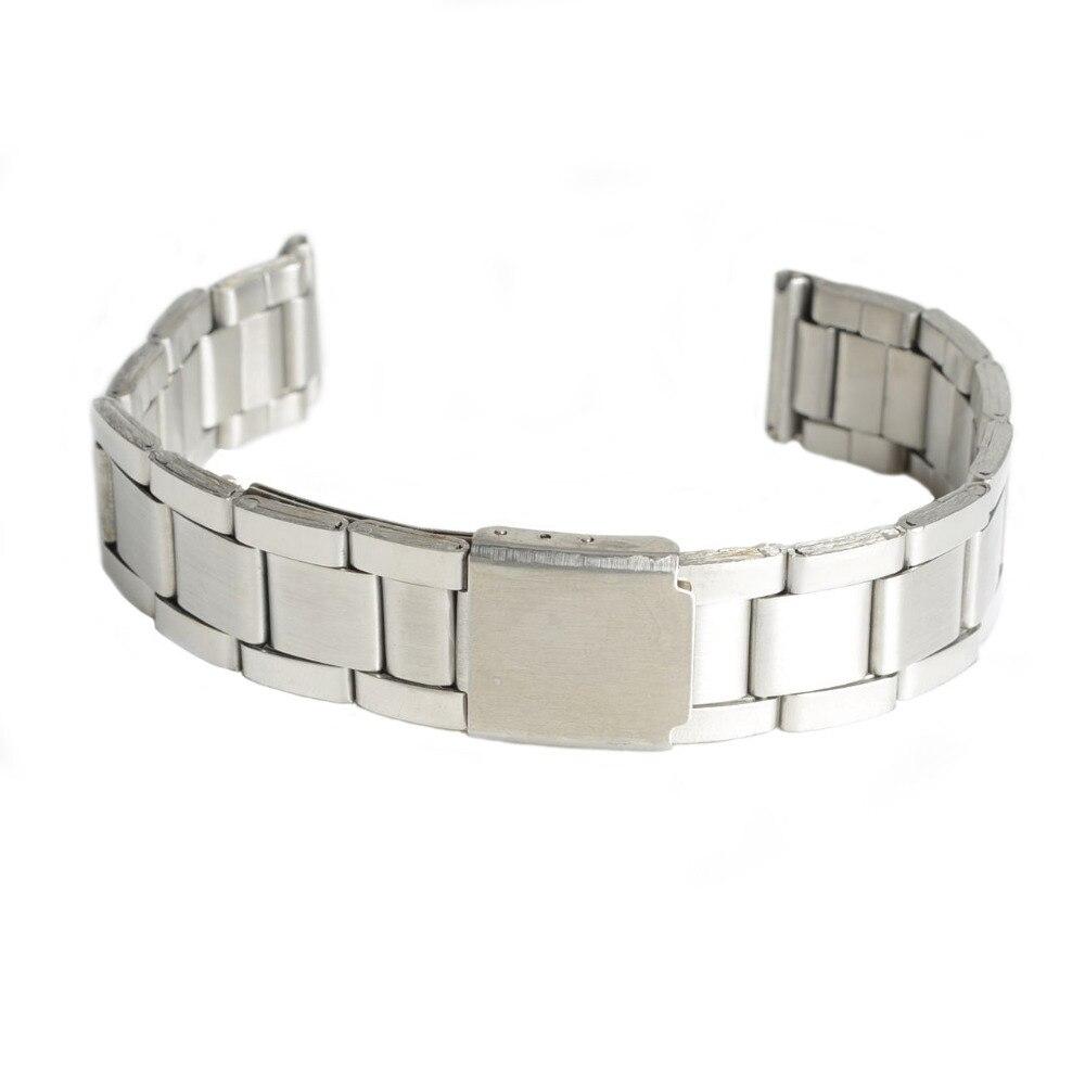 2017 New Stainless Steel Strap Silver Wrist Watch Bracelet With Folding  Clasp Hot Men Women Metal