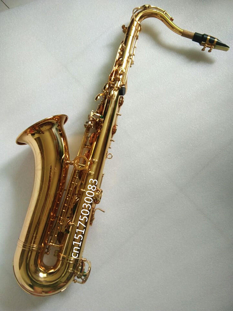 Tenor saxophone Bb high quality instruments. SELMER France Model golden tenor saxophone Complete accessories Sax brand new nickel plated saxophone high quality saxophone alto french selmer instruments r 54 model saxofone sax accessories