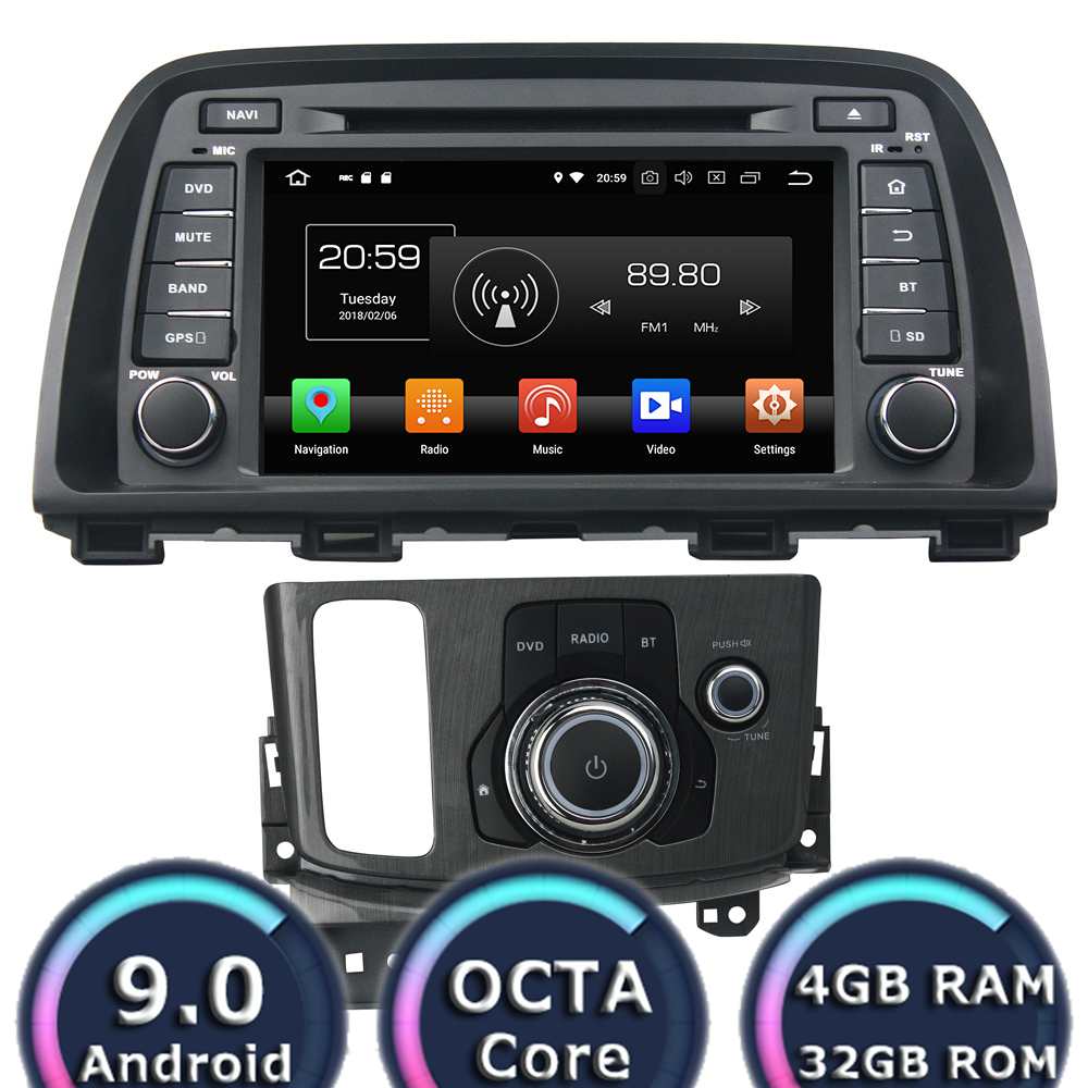 Roadlover Android 9.0 Car Multimedia DVD Player Radio For <font><b>Mazda</b></font> CX-<font><b>5</b></font> 2013-2014 Stereo GPS Navigation Automagnitol <font><b>2Din</b></font> HD Screen image