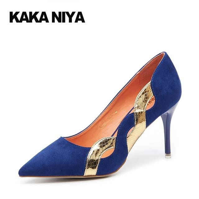 Elegant Red Stiletto Heels Shoes Pumps Ladies Blue 8cm 3 Inch ...