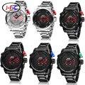 Relojes de los hombres de ohsen reloj de los hombres reloj de cuarzo de acero llena de marcas de lujo relogio del reloj del deporte led digital reloj militar del ejército masculino