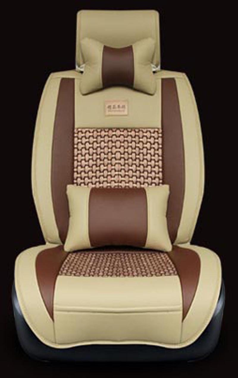 Luxurious leather and breathable ice silk Universal car Seat Cover,5 seats Universal Car Seat Covers,Four seasons Universal