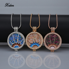 women Colorful Crystal drip Chain coin necklace set rose Jewelry Wholesale round pendant 33mm coins disc