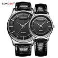 Часы LONGBO Reloj Mujer Hombre  модные часы для пар  роскошные кожаные часы для мужчин и женщин  повседневные водонепроницаемые кварцевые наручные часы...