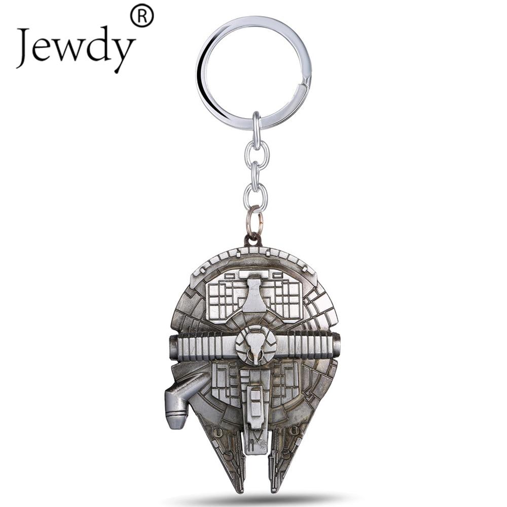 Movie Star Wars Spaceship Millennium Falcon Star Destroyer Slave I Keychains Metal Keyring Key Chain Jewelry For Men Women