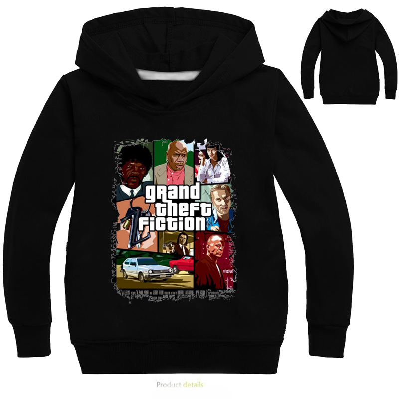 Z&Y 3-16Years Mage Gta 5 Clothes Poster Gta5 Hoodie Shirt Boys Boys Jackets and Coats Hooded Jacket Tops Coat Sweatshirt Hoodie