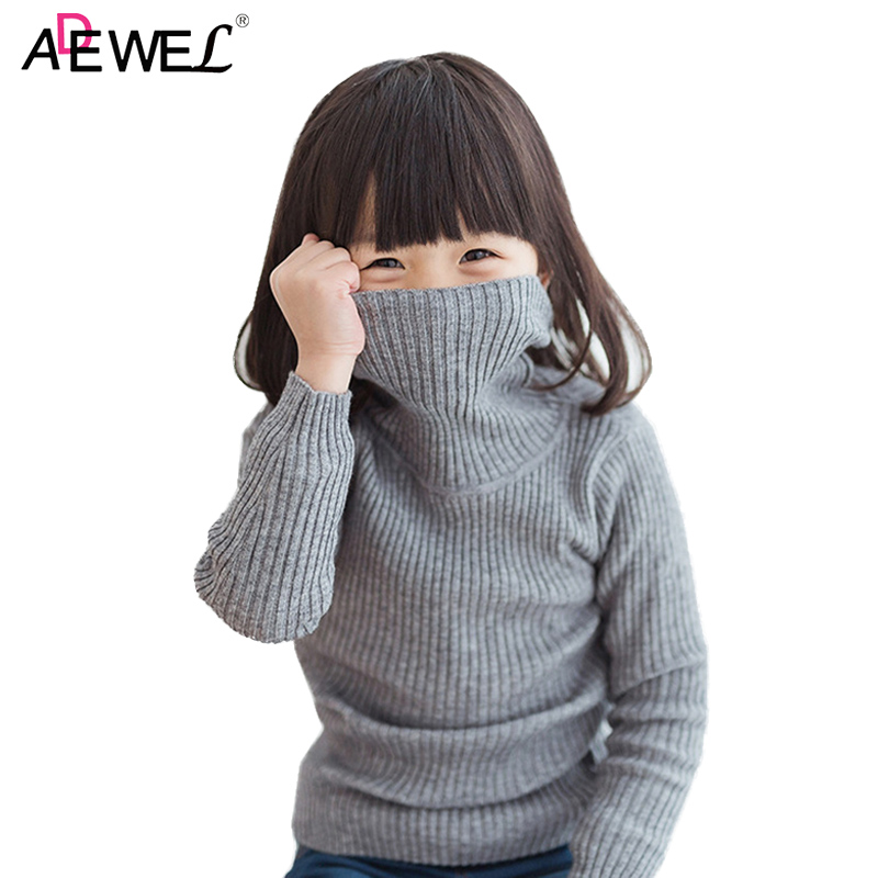 804da13c64d6 ADEWEL Turtleneck Kids Sweaters 1 2 3 4 5 6 7 8 Years Boys Girls ...