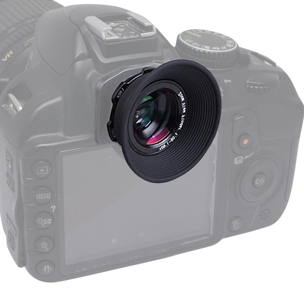 Mcoplus-1.08x-1.60x Zoom-Sucher-Okularlupe für Canon 5D Mark II III 6D 7D 60D 70D 450D 550D 650D 650D 700D 1100D