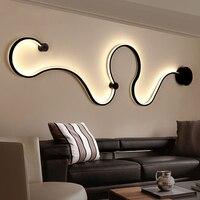 Современные Настенные светильники для спальни кабинет гостиная балкон комнаты Акриловые дома деко в белый черный железный корпус бра свет