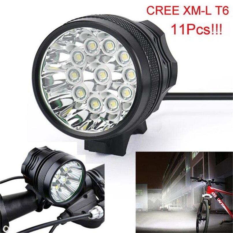 New 28000 Lm 11T6 LED Bicycle lantern bike Headlamp HeadLight Lamp Flashlight Lights 6400mAh battery farol bike light #2A26 (2)