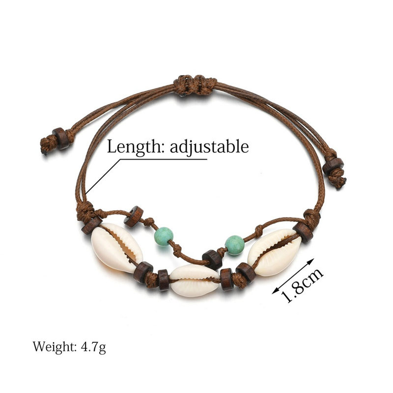 Antique Silver Color Starfish Tortoise Shell Anklet Women Beads Geometric Bracelet Bohemian Ankle Bracelet Boho Foot Jewelry in Anklets from Jewelry Accessories