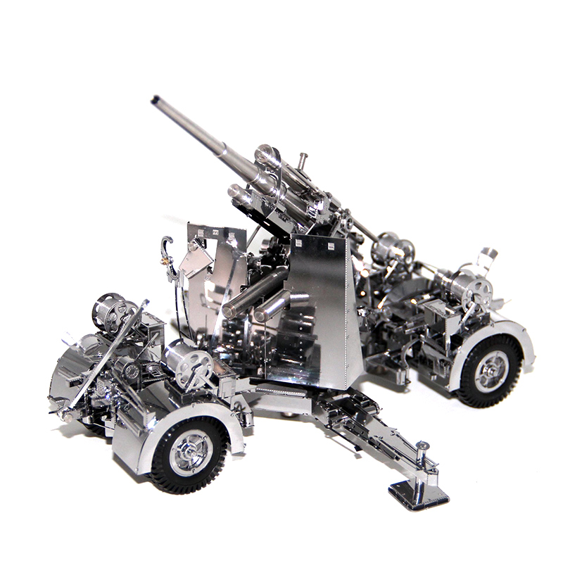 3D Metal Puzzles Model Germany 88 Air Defense Anti Tank Artillery Jigsaw Adult Kids Educational Toys