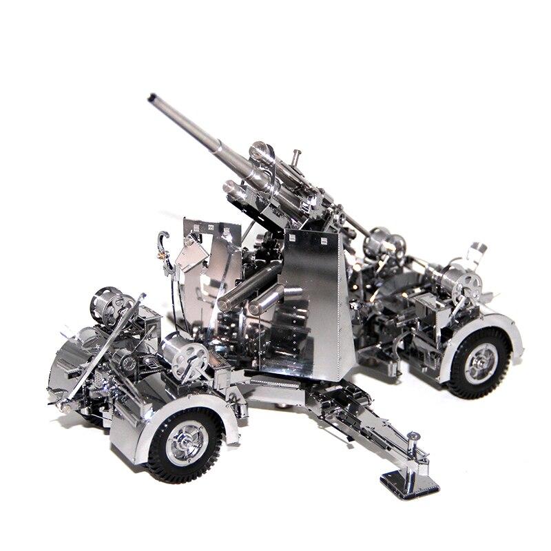 3d metal jigsaw puzzles modelo alemanha 88 air defense anti artilharia tanque adulto criancas brinquedos educativos
