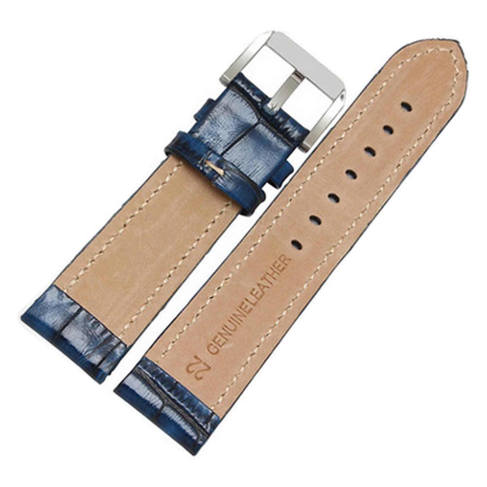 Ретро крокодиловый узор ручной работы из натуральной кожи 20 мм 22 мм ремешки для часов PAM для Tissot Ome браслет
