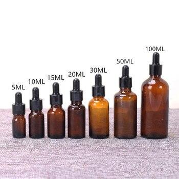 Amber Glass Dropper Refillable Aromatherapy Perfume Bottle