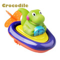 Funy Baby Bath toys Children play in the water swimming boat Colorful Clockwork rope toys wheel 2016 Newest