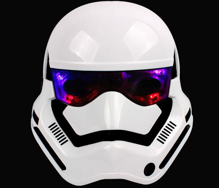 2pcs Super Hero Star Wars Mask Storm Clone Trooper Helmet Black Warrior Empire Soldiers Halloween Games Mask With Led Light image