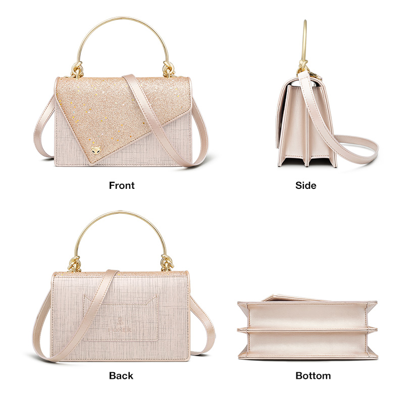 FOXER Flower Girl's Party Chic Shoulder Bags Women Dazzling Shine Evening Bags Lady Qualities Flap bags Female Messenger Bag 1