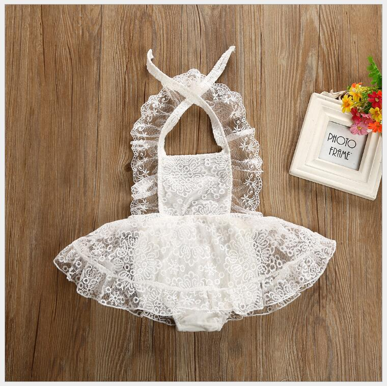 ins baby girls lace romper little toddler girls flower fairy baby clothing onesie ruffles infant bebe clothes 0-2yrs