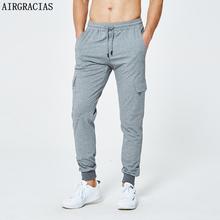 AIRGRACIAS Men Pants Fashion Skinny Sweatpants Mens Joggers Pants streetwear Brand Clothing US EU Size S-XXL Tracksuit men cheap Casual Drawstring Flat Full Length Pockets Midweight Worsted
