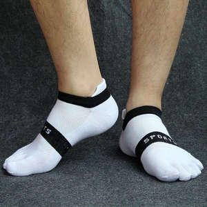 Image 2 - Pure cotton toe socks men mesh breathable five finger sock casual ankle socks new fashion mens five toe sock 6 pairs/lot